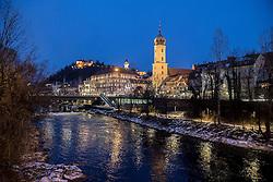 THEMENBILD - Eine Ansicht der Altstadt von Graz in der Nacht am 16. Jänner 2017 in Graz // THEMES PICTURE - a view of Graz on 16 January 2017. EXPA Pictures © 2017, PhotoCredit: EXPA/ Erwin Scheriau