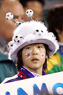 10 February 2006: A Japanese fan. The United States Men's National Team defeated Japan 3-2 at SBC Park in San Francisco, California in an International Friendly soccer match.