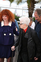 Sabine Azema, Alain Resnais,  Hippolyte Girardot at the Vous N'Avez Encore Rien Vu photocall at the 65th Cannes Film Festival France. Monday 21st May 2012 in Cannes Film Festival, France.
