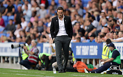 Derby County manager Frank Lampard appears dejected during the Sky Bet Championship match at the Madejski Stadium, Reading.