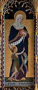 Church of St John the Baptist, Lound, Suffolk, England, UK painting by Ninian Comper c 1914 Saint Elizabeth with Saint John the Baptist