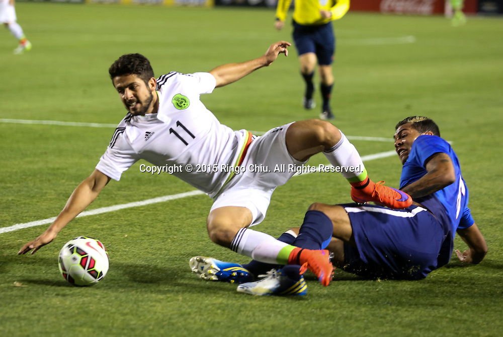 Mexico's Daniel Hern‡ndez Trejo #11 actions against United States during a men's national team international friendly match, April 22, 2015, at StubHub Center in Carson, California. United States won 3-0. (Photo by Ringo Chiu/PHOTOFORMULA.com)