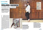 PARISIEN MAGAZINE - 6 JUIN 2014<br /> Marion Bartoli dans les coulisses de Roland Garros