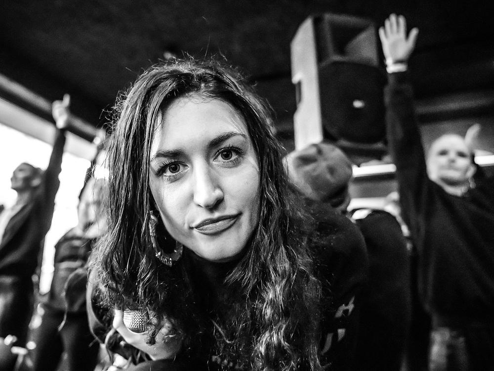 Kolfinna of Icelandic all-female hip-hop collective Reykjavíkurdætur at Iceland Airwaves