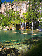 Morning at Hanging Lake recreation site, White River National Forest, near Glenwood Springs, Colorado, USA.