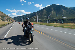 Paul Bessade of France riding his 1929 Henderson KJ during stage 11 (289 miles) of the Motorcycle Cannonball Cross-Country Endurance Run, which on this day ran from Grand Junction, CO to Springville, UT., USA. Tuesday, September 16, 2014.  Photography ©2014 Michael Lichter.