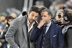 May 19, 2019 - Turin, Turin, Italy - Gianluigi Buffon, Fabio Paratici of Juventus FC during the Serie A match at Allianz Stadium, Turin  (Credit Image: © Antonio Polia/Pacific Press via ZUMA Wire)