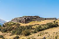 Puca Pucara, Incas ruins in the peruvian Andes at Cuzco Peru