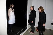 Hans Ulrich Obrist;  Julia Peyton-Jones , Puma/ Hussein Chalayan Retrospective Exhibition. Design Museum, London. 21 January 2009. *** Local Caption *** -DO NOT ARCHIVE-© Copyright Photograph by Dafydd Jones. 248 Clapham Rd. London SW9 0PZ. Tel 0207 820 0771. www.dafjones.com.<br /> Hans Ulrich Obrist;  Julia Peyton-Jones , Puma/ Hussein Chalayan Retrospective Exhibition. Design Museum, London. 21 January 2009.