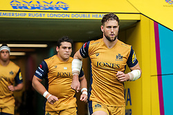 Jon Fisher of Bristol Rugby runs out for kick off - Rogan Thomson/JMP - 03/09/2016 - RUGBY UNION - Twickenham Stadium - London, England - Harlequins v Bristol Rugby - Aviva Premiership London Double Header.