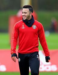 Memphis Depay of Manchester United  - Mandatory byline: Matt McNulty/JMP - 07966386802 - 24/11/2015 - FOOTBALL - Aon Training Complex -Manchester,England - UEFA Champions League
