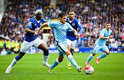 Jesus Navas of Manchester City attacks - Mandatory byline: Matt McNulty/JMP - 07966386802 - 23/08/2015 - FOOTBALL - Goodison Park -Everton,England - Everton v Manchester City - Barclays Premier League