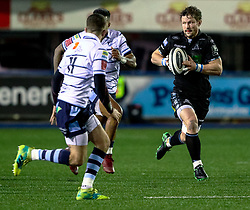 Peter Horne of Glasgow Warriors<br /> <br /> Photographer Simon King/Replay Images<br /> <br /> Guinness PRO14 Round 15 - Cardiff Blues v Glasgow Warriors - Saturday 16th February 2019 - Cardiff Arms Park - Cardiff<br /> <br /> World Copyright © Replay Images . All rights reserved. info@replayimages.co.uk - http://replayimages.co.uk