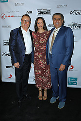 David Renzer, Haim Saban and guest at Creative Community For Peace 2nd Annual 'Ambassadors Of Peace' Gala held at Los Angeles on September 26, 2019 in Private Residence, California, United States (Photo by © Jc Olivera/VipEventPhotography.com