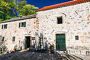 Historic fort at Roski Slap, Krka National Park, Dalmatia, Croatia