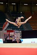 Vlada Nikolchenko from the Armonia D'Abruzzo team during the Italian Rhythmic Gymnastics Championship in Bologna, 9 February 2019.