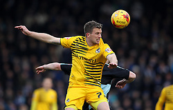 Lee Mansell of Bristol Rovers wins a header - Mandatory byline: Robbie Stephenson/JMP - 27/02/2016 - FOOTBALL - Adams Park - Wycombe, England - Wycombe Wanderers v Bristol Rovers - Sky Bet League Two