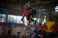 #643 (ALCOJOR RAMOS Gustavo) ESP at the 2014 UCI BMX Supercross World Cup in Manchester.