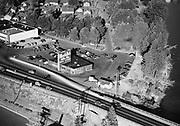 "Ackroyd 00151-2. ""Waddle's Drive-In aerial. September 15, 1947."" Highway 99 on Hayden Island."