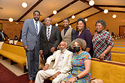 James Meredith attends Greater Damascus Church of Christ in Hazelhurst with Dee DeArrius Rhymes.Mississippi native son and  the first African American to attend The University of Mississippi, aka Ole Miss,  James Meredith. Working on his oral history- Citizen James Meredith HIS STORY is HISTORY- MS Understood - The Man The Myth and The Make-Believe.  Photo copyright © Suzi Altman