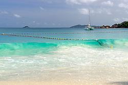 24.07.2015, Insel Praslin, SYC, auf den Seychellen, im Bild Netz zum Schutz vor Haien, Hainetz, Anse Lazio, // Holiday on the Seychelles at the Insel Praslin, Seychelles on 2015/07/24. EXPA Pictures © 2015, PhotoCredit: EXPA/ Eibner-Pressefoto/ Schulz<br /> <br /> *****ATTENTION - OUT of GER*****