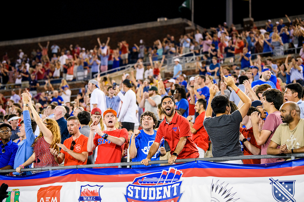 During family weekend, SMU football defeats Tulsa, 43-37, in triple overtime, Saturday, October 5, 2019 at Gerald J. Ford Stadium on the SMU Campus.