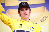 Geraint Thomas (GBR - Team Sky) podium yellow shirt during the 105th Tour de France 2018, Stage 13, Bourg d'Oisans - Valence (169,5 km) on July 20th, 2018 - Photo Luca Bettini / BettiniPhoto / ProSportsImages / DPPI