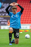 Bradford city defender Reece Staunton warms up during the EFL Sky Bet League 1 match between Doncaster Rovers and Bradford City at the Keepmoat Stadium, Doncaster, England on 22 September 2018.