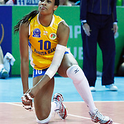 Rabita BAKU's Kimberly GLASS during their Women's Volleyball CEV Champions League semi final match at Burhan Felek Arena in Istanbul, Turkey on 20 March 2011. Photo by TURKPIX