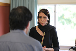 March 16, 2019 - Christchurch, New Zealand - New Zealand Prime Minister JACINDA ARDERN meets with members of the Moslem community in the wake of the mass shooting at the two Christchurch mosques, Christchurch, New Zealand, Saturday, March 16, 2019. (Credit Image: © SNPA/ZUMA Wire/ZUMAPRESS.com)