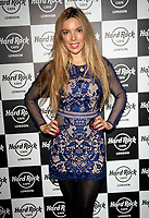 Coralie Robinson at the Hard Rock Cafe celebrity-studded Christmas party for children's charity Fight For Life LONDON, 2 December 2019