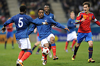 FOOTBALL - UNDER 21 - FRIENDLY GAME - FRANCE v SPAIN - 24/03/2011 - PHOTO GUILLAUME RAMON / DPPI -<br /> TRIPY MAKONDA (FRA)