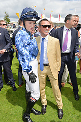 LEONORA SMEE and FRANKIE DETTORI at the Qatar Goodwood Festival - Ladies Day held at Goodwood Racecourse, West Sussex on 30th July 2015.