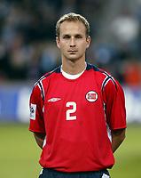 Fotball<br /> VM-kvalifisering<br /> Norge v Hviterussland<br /> Ullevaal stadion<br /> 8. september 2004<br /> Foto: Digitalsport<br /> portrett, portretter<br /> Jon Inge Høiland, Norge