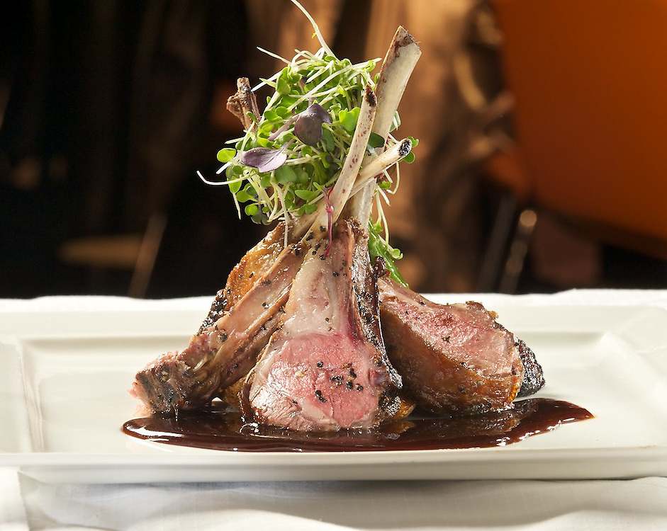 Colorado Rack of Lamb<br /> Roasted Yukon Potatoes, Horseradish Sour Cream<br /> Grilled Baby Asparagus<br /> Bruleed Figs, Pinot Noir Reduction