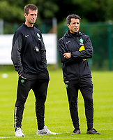 10/07/14      <br /> CELTIC TRAINING<br /> AUSTRIA<br /> Celtic manager Ronny Deila (left) with assistant John Collins