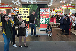© Licensed to London News Pictures. 12/08/2016. Customers looking bargains as the British Homes Store flagship store in Oxford street is set to close at the weekend.  London, UK. Photo credit: Ray Tang/LNP