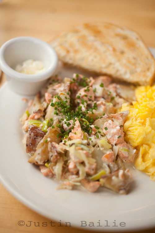 Salmon hash at  Mother's Bistro and Bar in Portland, OR>