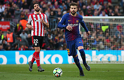 March 18, 2018 - Barcelona, Spain - Gerard Pique during the match between FC Barcelona and Athletic Club, played at the Camp Nou Stadium on 18th March 2018 in Barcelona, Spain. (Credit Image: © Joan Valls/NurPhoto via ZUMA Press)