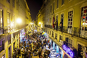 A view of Rua Nova do Carvalho (street) at Cais do Sodré district in Lisbin, where  nightlife venues are blooming.