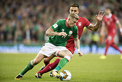 September 5, 2017 - Dublin, Ireland - James McClean of Ireland and Dusan Tadic of Serbia during the FIFA World Cup 2018 Qualifying Round match between Republic of Ireland and Serbia at Aviva Stadium in Dublin, Ireland on September 5, 2017  (Credit Image: © Andrew Surma/NurPhoto via ZUMA Press)
