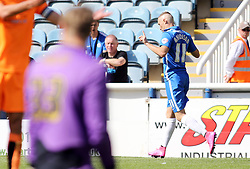 Marcus Maddison of Peterborough United celebrates scoring his first goal - Mandatory byline: Joe Dent/JMP - 07966386802 - 15/08/2015 - FOOTBALL - ABAX Stadium -Peterborough,England - Peterborough United v Colchester United - Sky Bet League One