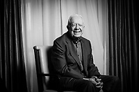 New York, NY -- Former President Jimmy Carter, the 39th President of the United States from 1977 to 1981 and awarded the 2002 Nobel Peace Prize, photographed at the Peninsula Hotel in New York City, NY. Photo by Jack Gruber, USA TODAY