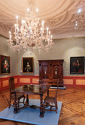 Ornate room  inside The Celle Palace or Celle Castle in Celle, Lowery Saxony, Germany