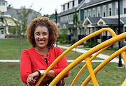 Photo by Mara Lavitt<br /> August 17, 2015<br /> Karen Dubois-Walton, executive director of the New Haven Housing Authority/Elm City Communities in the new Brookside neighborhood.