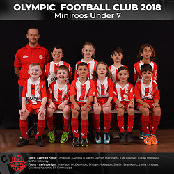 Olympic FC Miniroos Under 7 2018