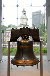 Liberty Bell and Independence Hall..Philadelphia, Pennsylvania, PA USA.  Photo copyright Lee Foster, 510-549-2202, lee@fostertravel.com, www.fostertravel.com. Photo 364-30777