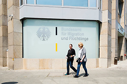 Exterior of Federal Office for Migration and Refugees in Berlin, Germany