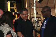 "19 January 2015-Santa Barbara, CA: The Arlington Theater Program, Backstage at the Arlington with Local Dignitaries.  Santa Barbara Honors Dr. Martin Luther King Jr. with a Day of Celebration.  The Santa Barbara MLK, Jr. Committee chose ""Drum Majors for Justice"" as it's theme for the day which included a Pre-March Program in De la Guerra Plaza followed by a march up State Street to the Arlington Theater for speakers, music and poetry.  The program concluded with a Community Lunch at the First United Methodist Church in Santa Barbara.  Photo by Rod Rolle"