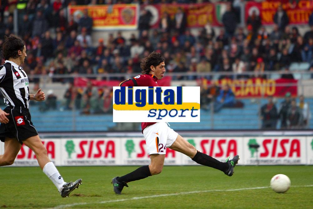 Roma 22/2/2004 <br />Roma Siena 6-0 <br />Marco Delvecchio (Roma) scores 5-0<br />Marco Delvecchio segna il gol del 5-0<br />Photo Andrea Staccioli Graffiti
